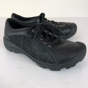 Keen Rubber Toe Leather Sneakers Black Size 8.5